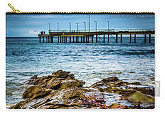 Carry-all Pouch featuring the photograph Rock Pier by Perry Webster