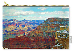 Carry-all Pouch featuring the photograph Rock Solid by Roberta Byram