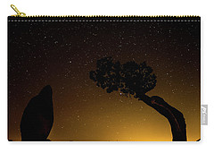 Carry-all Pouch featuring the photograph Rock, Tree, Friends by T Brian Jones