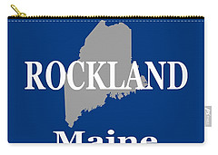 Carry-all Pouch featuring the photograph Rockalnd Maine State City And Town Pride  by Keith Webber Jr