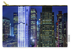 Rockefeller At Night Carry-all Pouch by M G Whittingham