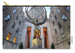 Rockefeller Centre Atlas - Nyc - Vertorama Carry-all Pouch