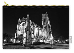 Rockefeller Chapel - B And W Carry-all Pouch by CJ Schmit