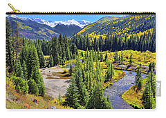 Rockies And Aspens - Colorful Colorado - Telluride Carry-all Pouch by Jason Politte