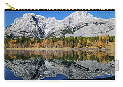Rockies From Wedge Pond Under Late Fall Colours, Spray Valley Pr Carry-all Pouch