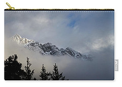 Rockies In The Clouds. Carry-all Pouch by Ellery Russell