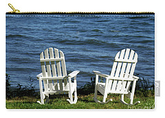 Rocking Adirondak Chairs On The Maine Coast Carry-all Pouch by DejaVu Designs