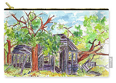Carry-all Pouch featuring the painting Rockland Cabin by Cathie Richardson