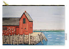 Rockport Motif In Winter Carry-all Pouch