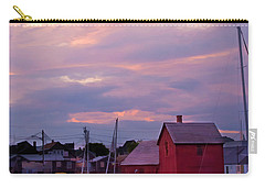 Carry-all Pouch featuring the photograph Rockport Sunset Over Motif #1 by Jeff Folger