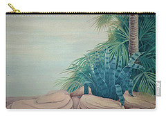 Rocks And Palm Tree Carry-all Pouch