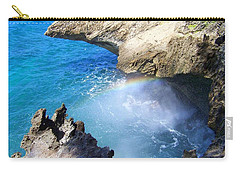 Rocks And Rainbow Carry-all Pouch by Susan Lafleur