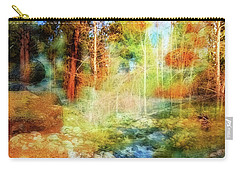 Rocks And Water Double Carry-all Pouch by Nancy Marie Ricketts