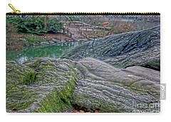 Rocks At Central Park Carry-all Pouch by Sandy Moulder