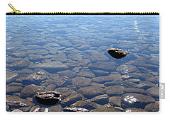 Rocks In Calm Waters Carry-all Pouch