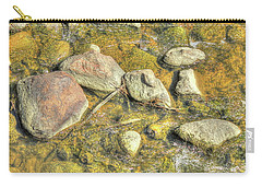 Carry-all Pouch featuring the photograph Rocks In Water by Jim Sauchyn