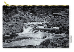 Carry-all Pouch featuring the photograph Rocks Of Chippewa Falls by Rachel Cohen