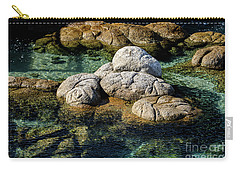 Carry-all Pouch featuring the photograph Rocks Resembling Loaves Of Bread by Susan Wiedmann