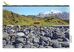 Carry-all Pouch featuring the photograph Rocky Beach Iceland by Edward Fielding