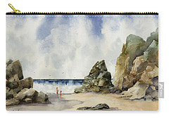 Carry-all Pouch featuring the painting Rocky Beach by Sam Sidders