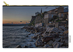 Carry-all Pouch featuring the photograph Rocky Coast At Dawn - Piran - Slovenia by Stuart Litoff