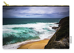 Carry-all Pouch featuring the photograph Rocky Coast by Perry Webster