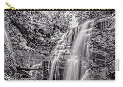 Carry-all Pouch featuring the photograph Rocky Falls - Bw by Christopher Holmes