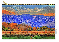 Carry-all Pouch featuring the photograph Rocky Mountain Deer by Scott Mahon
