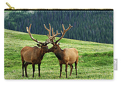 Carry-all Pouch featuring the photograph Rocky Mountain Elk 2 by Marie Leslie