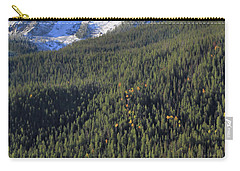 Carry-all Pouch featuring the photograph Rocky Mountain Evergreen Landscape by Dan Sproul