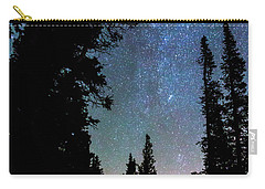 Carry-all Pouch featuring the photograph Rocky Mountain Forest Night by James BO Insogna
