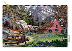 Rocky Mountain Ranch Carry-all Pouch by Ron Chambers