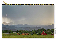 Carry-all Pouch featuring the photograph Rocky Mountain Storming Panorama by James BO Insogna