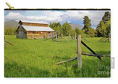Rocky Mtns And Buckaroo Barn Carry-all Pouch