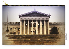 Rocky On The Art Museum Steps Carry-all Pouch by Bill Cannon
