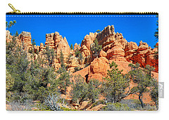 Carry-all Pouch featuring the photograph Rocky Range At Red Canyon by John M Bailey