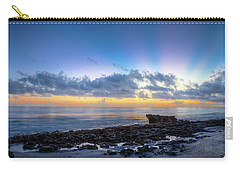 Carry-all Pouch featuring the photograph Rocky Reef At Low Tide by Debra and Dave Vanderlaan
