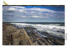 Rocky Shore Line Two Lights Maine  Carry-all Pouch