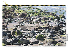Carry-all Pouch featuring the photograph Rocky Shore Of Sand Beach by Living Color Photography Lorraine Lynch