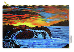 Rocky Shores Carry-all Pouch by Jenny Lee