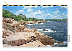 Rocky Summer Seascape Acadia National Park Photograph Carry-all Pouch by Keith Webber Jr