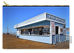 Carry-all Pouch featuring the photograph Rod Rental At The Pismo Beach Pier by Floyd Snyder