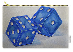 Carry-all Pouch featuring the painting Roll The Dice by Kelly Mills