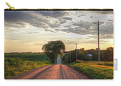 Rolling Down A Country Road Carry-all Pouch