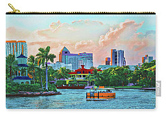 Carry-all Pouch featuring the painting Rolling Down The New River by Deborah Boyd