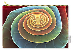 Carry-all Pouch featuring the digital art Rolling Spiral by Anastasiya Malakhova