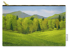 Carry-all Pouch featuring the painting Rolling Spring Pastures  by Frank Wilson
