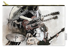 Rolling Thunder Led Zeppelin Carry-all Pouch by Iconic Images Art Gallery David Pucciarelli