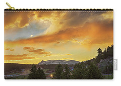 Carry-all Pouch featuring the photograph  Rollinsville Colorado Trains And Sunset by James BO Insogna