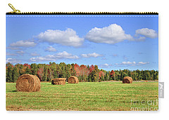 Rolls Of Hay On A Beautiful Day Carry-all Pouch